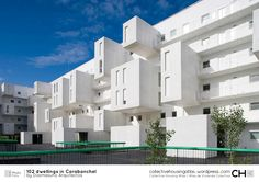 [Collective Housing Atlas] 102 dwellings in Carabanchel by Dosmasuno Arquitectos Amazing Architecture, Contemporary Architecture, Architecture Design, Residential Complex, Social Housing, Other Space, Built Environment, Willis Tower, Madrid
