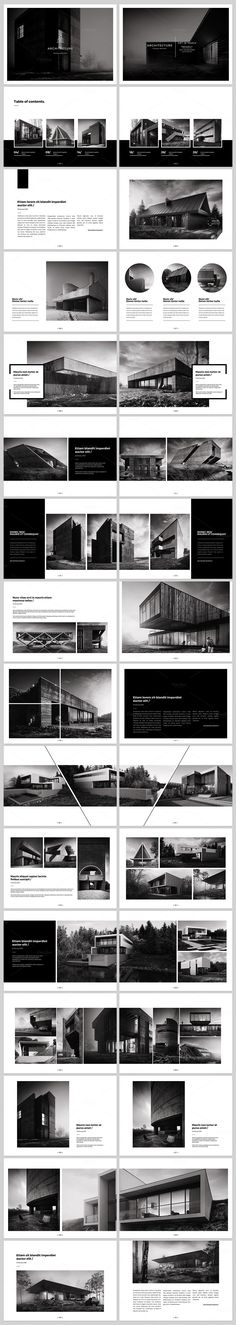 Architecture Landscape Brochure by ShapShapy on @creativemarket