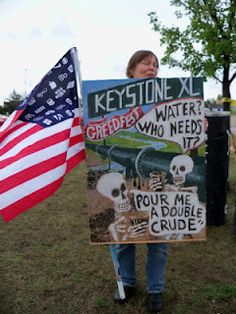 Keystone XL tar sands oil pipeline. The dirtiest oil on Earth