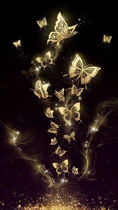 It… Beautiful golden butterfly live wallpaper! It is originally designed by Ahatheme! Hd Wallpaper Android, Cellphone Wallpaper, Computer Wallpaper, Beautiful Nature Wallpaper, Colorful Wallpaper, Cute Wallpaper Backgrounds, Trendy Wallpaper, Beautiful Beautiful, Wallpaper Art