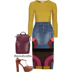 A fashion look from December 2015 featuring Topshop tops, Tom Ford skirts and L'Autre Chose pumps. Browse and shop related looks.