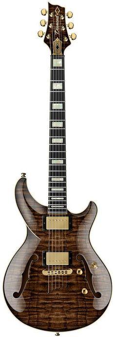 "Diamond ""Monarch"" semi-hollow Guitar --- https://www.pinterest.com/lardyfatboy/"