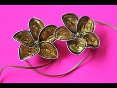 How to make the base for the Flower Earrings with Nespresso capsules from Handmade.by.Xenia - YouTube