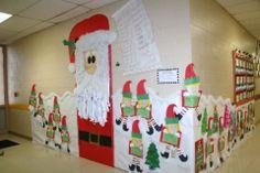 Classroom Santa Door and Hallway decoration