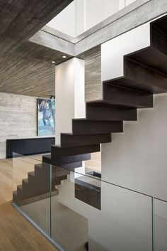 DIY Staircase Design Ideas 4 Times The Stair Decoration Would Make You Feel Amazed - Trend Crafts Modern Stair Railing, Metal Stairs, Modern Stairs, Railing Design, Staircase Design, Staircase Ideas, Railing Ideas, Staircase Pictures, Architect Design House