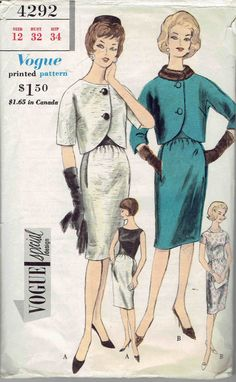 Vogue Special Design 1960s Suit Sheath Dress and by MiAbDryGoods