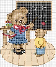 Χειροτεχνήματα: Σχέδια για κέντημα με σχολικά θέματα / School themed cross stitch patterns