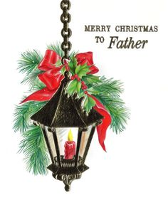 Vintage #Christmas Card Father UNUSED by by sweetpeaspantry on Etsy, $2.00