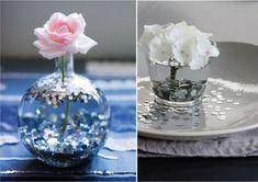 DIY | Blumendeko | Hochzeitsdeko | Vasen mit Silberdeko | Weeding | Flower | Empfohlen von www.himmelreich-fotografie.de
