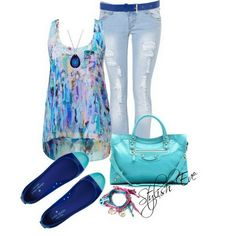 Blue Spring/ Summer 2013 Outfits for Women by Stylish Eve