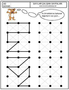okul öncesi çizgi çalışmaları