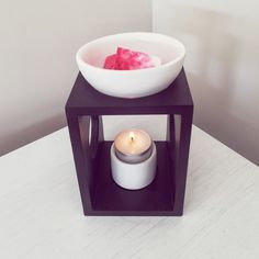 Matte Black Wooden Oil Burner (for oils and melts) Australian Gifts, Wax Warmers, Candied Pecans, Oil Burners, Soy Wax Melts, Fresh Coffee, Toasted Coconut, Tea Light Holder, Candle Making