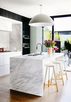 Give your kitchen a modern + timeless upgrade in 2016 with marble.