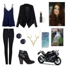 """""""I look pretty in blue"""" by alexaluc13 ❤ liked on Polyvore featuring Sloane, Lee Renee, C/MEO COLLECTIVE, Relaxfeel, Casetify, Armani Jeans, Forever 21, CARAT* London and Kawasaki"""