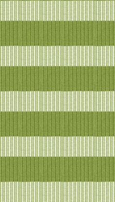 Hampton Indoor/Outdoor PVC Rug - Moss and White