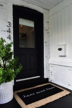 Choosing the Perfect Romabio Paint Color for Our Home. House Front, My House, Mailbox On House, Exterior Design, Interior And Exterior, Hm Deco, Entry Way Design, Front Porch Design, Front Door Decor