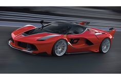 """Ferrari FXX K designed by Flavio Manzoni and Werner Gruber, Ferrari Design. Compasso d'Oro, category Design for mobility, """"for cars of great industrial craftsmanship that reflect Ferrari and Made in Italy's values. Prize for a formidable team that embodies the values of a historic brand"""""""