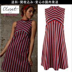 ★テイラー愛用ブランド★closet レトロ ストライプ ワンピース ドレス 2016 ファッション テイラースイフト