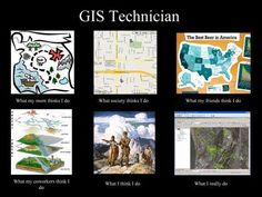What people think a #GIS technician does. #meme