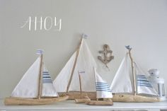 I just love these driftwood sailboats!