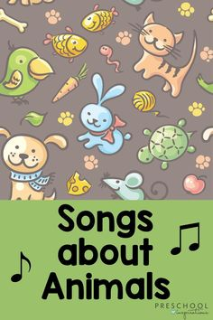 Songs about animals that kids love! Songs about farm animals, pets, and other animals that are perfect for circle time or other times in the preschool day. There are animal songs for toddlers, too! Silly Songs For Kids, Songs For Toddlers, Music For Kids, Kids Songs, Circle Time Songs, Circle Time Activities, Farm Animal Songs, Farm Animals, Transition Songs