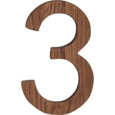 CB2 Reclaimed Teak House Number 3 ($13) ❤ liked on Polyvore featuring home, outdoors, outdoor decor and cb2