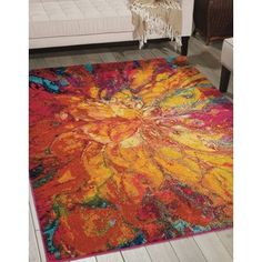 Nourison Celestial Cayenne Rug (5'3 x 7'3) | Overstock.com Shopping - The Best Deals on 5x8 - 6x9 Rugs