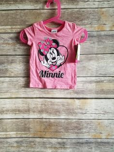 3a9452694a662 NEW Disney Junior Babies Minnie Mouse Short Sleeve Pink Shirt Size 12 Months