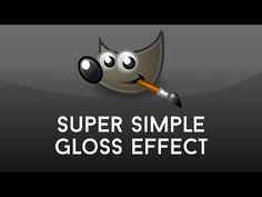 GIMP: Super Simple Gloss Effect on any Shape - YouTube