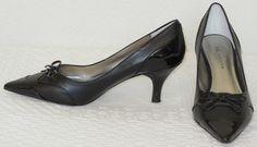 Anne Klein Pointed Toe Black Pumps