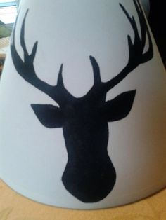 Hand painted lamp shade on Etsy, $45.00