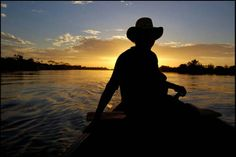 Atardecer en el Rio Apure,Venezuela.