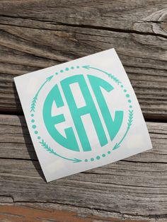 Monogram Vinyl Decal!