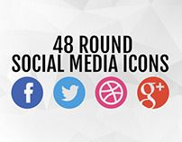 Round #Social #Media Icons by Medialoot in Graphics