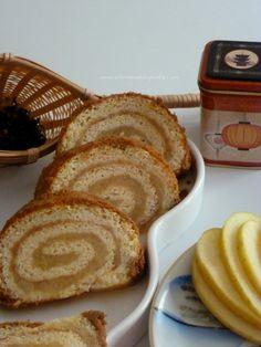 El Zurrón de los Postres: Brazo de Gitano con Compota de Manzana cubierto de Galletas Spéculoos