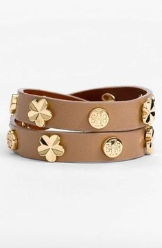 Tory Burch stud leather #bracelet #jewelry