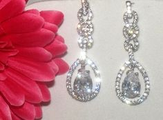 Elana - Beautiful elegant Cubic Zirconia Earrings - SALE!!