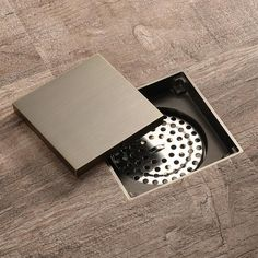Shower Drain, Bathtub Shower, Shower Floor, Contemporary Bathroom Designs, Bathroom Design Small, Bathroom Interior Design, Drain Cover, Floor Drains, Drain Cleaner