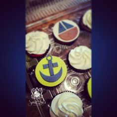 Nautical Themed Cupcakes for a baby shower