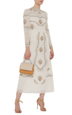 The Sofia Cotton Lawn Midi Dress by VILSHENKO Now Available on Moda Operandi