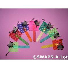 SWAPS-A-Lot - FLY SWATTER w/Big Black Flies SWAPS Kit Girl Kids Scout 50