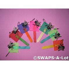 SWAPS-A-Lot - FLY SWATTER w/Big Black Flies SWAPS Kit Girl Kids Scout 50