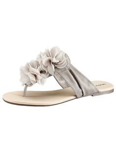 City Walk Taupe Floral Display Toe-Post Sandals