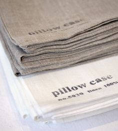 linen pillow cases