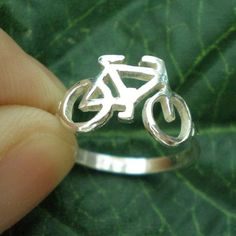 Solid Silver Bicycle Ring Silver Bicycle Jewellery by yhtanaff, $32.00 #sport #bicycle #statementring #cycling #cyclists #biker #biking #bikelover #womenscycling #bicyle @tonikcycling
