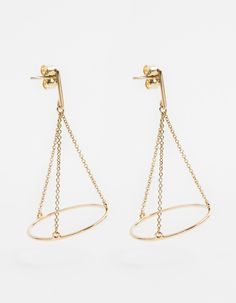 Boucles d'oreilles MATEO Stylish Jewelry, Simple Jewelry, Modern Jewelry, Fashion Jewelry, Gold Earrings Designs, Hanging Jewelry, Designer Earrings, Costume Jewelry, Jewelery
