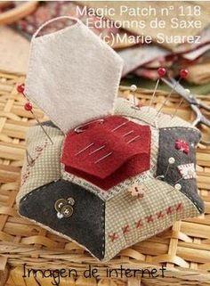 Photo Tutorial pincushion with needle keeper | El Blog de Esperanza.: Mis cosillas de Agosto