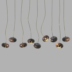 Wooden petal pendant light - 9 heads #wooden & Wooden petal pendant light - 5 heads | Pendant lighting azcodes.com