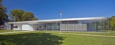 Toledo Museum of Art Glass Pavilion designed by Kazuyo Sejima and Ryue Nishizawa, lead architects of SANAA (Sejima and Nishizawa and Associates).  Photo Copyright Ralph Lieberman/photography sponsored by ARTstor