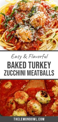 These juicy Baked Turkey Zucchini Meatballs are made with grated zucchini to create perfectly tender meatballs with an extra boost of fiber. Perfect for an easy weeknight dinner! Turkey Zucchini Meatballs, Baked Turkey, Easy Turkey Recipes, Zuchinni Recipes, Turkey Dishes, Easy Weeknight Dinners, Meatball Recipes, Good Healthy Recipes, Kitchen Recipes